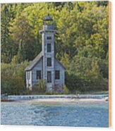 Grand Island E Channel Lighthouse 3 Wood Print