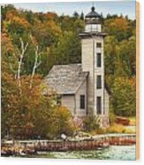 Grand Island Lighthouse No.1442 Wood Print