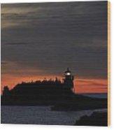 Grand Marais Harbor Sunrise Wood Print