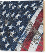Grand Ol' Flag Wood Print