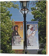 Grand Ole Opry Flags Nashville Wood Print