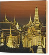 Grand Palace And Temple Of The Emerald Wood Print