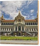 Grand Palace Chakri Mahaprasad Hall Front View Bangkok Wood Print