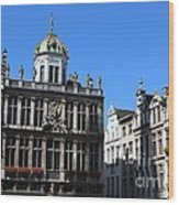 Grand Place Buildings Wood Print