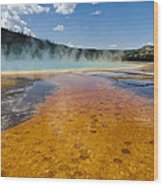 Grand Prismatic Spring IIi Wood Print
