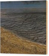 Grand Prismatic Spring Runoff Wood Print