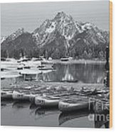 Grand Teton Dawn Iv Wood Print