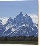 Grand Tetons 2 Wood Print by Charles Warren