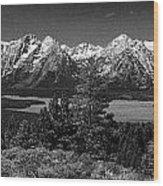Grand Tetons Wood Print