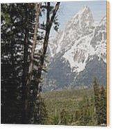 Grand Tetons Vertical Wood Print