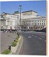 Grand Theatre In Warsaw Wood Print