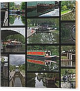 Grand Union Canal Collage Wood Print