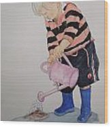 Granda Series1-will It Grow  Wood Print by Peter Edward Green