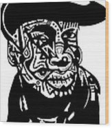 Grandmaster Flash Wood Print
