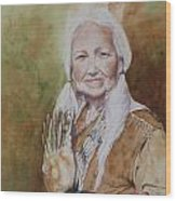 Grandmother Many Horses Wood Print by Patsy Sharpe