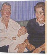 Grandpa And Grandma Wood Print