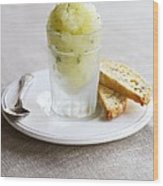 Granita And Biscotti Wood Print