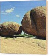 Granite Boulders 2  Wood Print