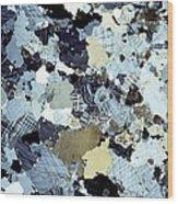 Granite Rock, Light Micrograph Wood Print