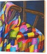 Gran's Quilt Wood Print