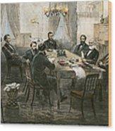 Grants Cabinet, 1869 Wood Print