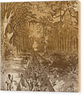 Grants Canal, 1862 Wood Print