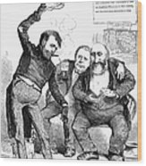 Grant/tweed Cartoon, 1872 Wood Print