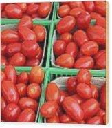 Grape Tomatoes Wood Print