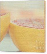 Grapefruit Wood Print by Kim Fearheiley