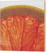 Grapefruit Macro 2 Wood Print