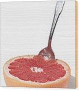 Grapefruit Spoon 2 Wood Print