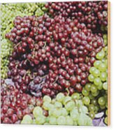 Grapes At A Market Stall Wood Print