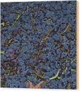 Grapes Wood Print by Barbara Walsh