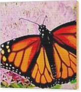 Graphic Monarch Wood Print