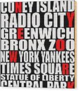 Graphic New York 3 Wood Print