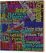 Graphic Presidents Wood Print
