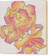 Graphic Rose Wood Print