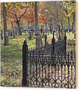 Gravestones Wood Print