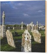 Graveyard, Clonmacnoise, County Offaly Wood Print