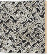 Gray Abstract Swirls Wood Print