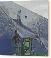 Gray Taxidermy Mural Wood Print