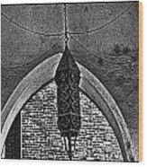Grayscale Lantern Wood Print