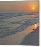 Grayton Beach Sunset 5 Wood Print by Charles Warren