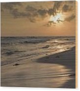 Grayton Beach Sunset Wood Print by Charles Warren