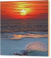 Grayton Beach Sunset IIi Wood Print by Charles Warren