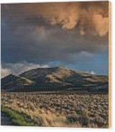 Great Basin Cloud Wood Print