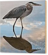 Great Blue Reflections Wood Print