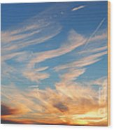 Great Canadian Sunset Wood Print