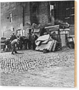 Great Depression, Riverfront Shantytown Wood Print by Everett