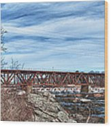 Great Falls Rr Bridge 10477c Wood Print